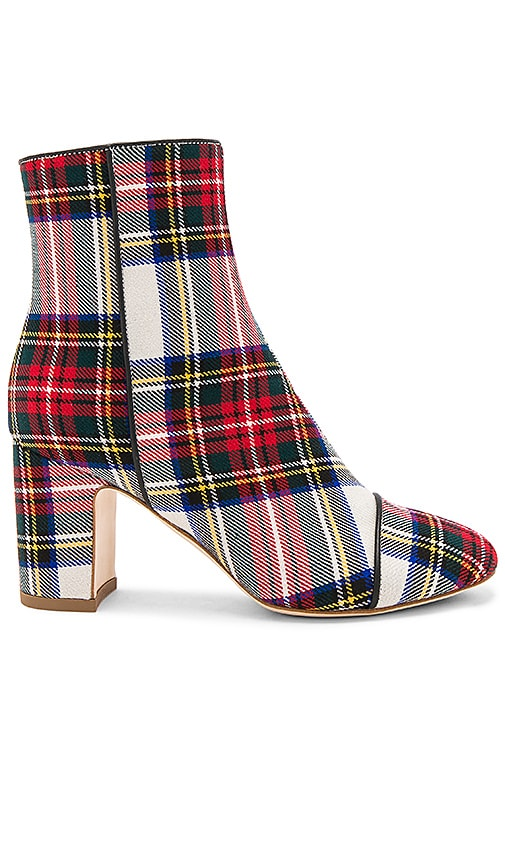 Polly Plume Ally Bogart Bootie in Red