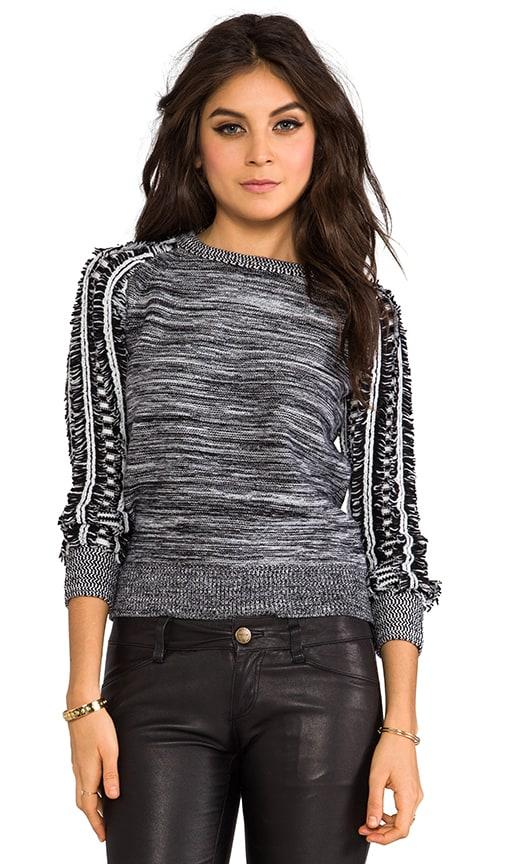Moto Marled Fringe Sweater