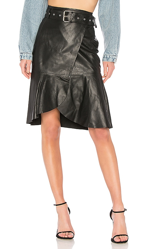 Palmer Girls x Miss Sixty Leather Skirt in Black