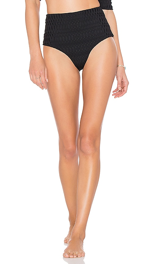 POEMA Swim Mykonos Bikini Bottom in Black