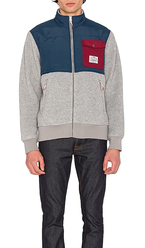 Poler Half Fleece Jacket in Gray
