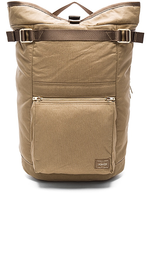 Porter-Yoshida & Co. Draft Backpack in Beige