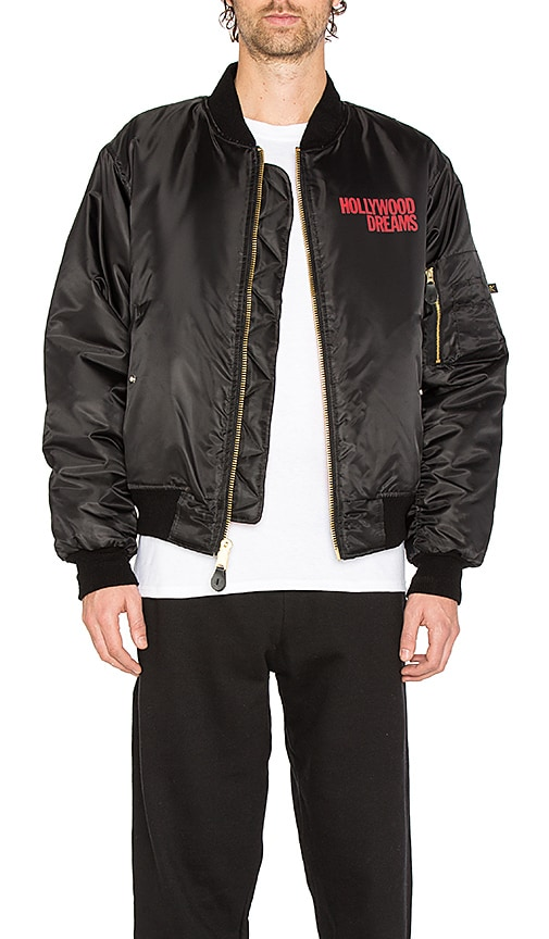 Post Malone Hollywood Dreams Reversible Bomber in Black