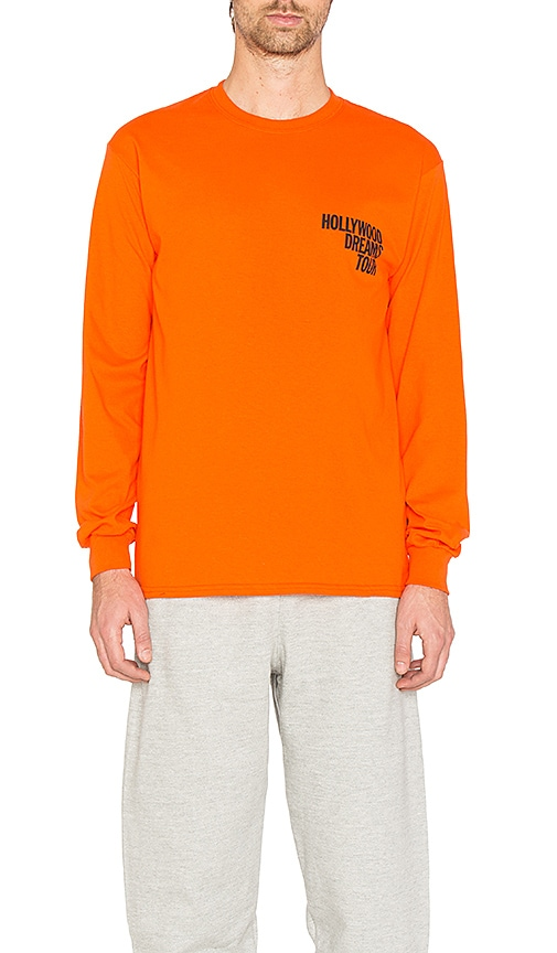 Post Malone Hollywood Dreams Tour Tee in Orange