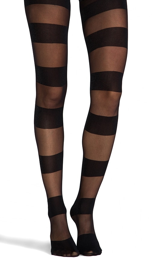 Semi Sheer Glitter Horizontal Tights