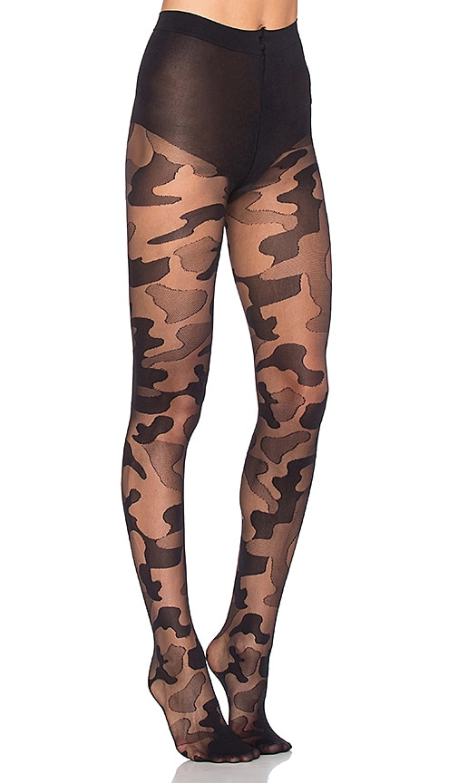 Pretty Polly Camouflage Tight in Black
