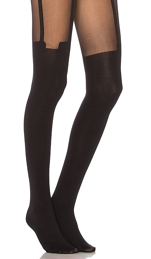 b644ee2b486 Pretty Polly House of Holland Super Suspender Tights in Black