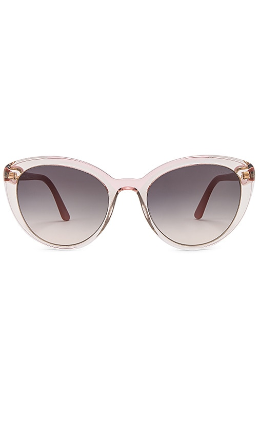 4adbbfa35b Prada Cinema Round Acetate Sunglasses in Transparent Pink Havana ...