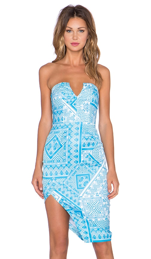 Premonition Moroccan Muse Bustier Dress in Print
