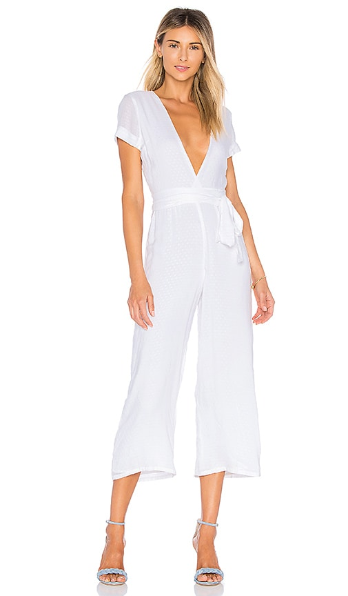 Privacy Please Norwalk Jumpsuit in White