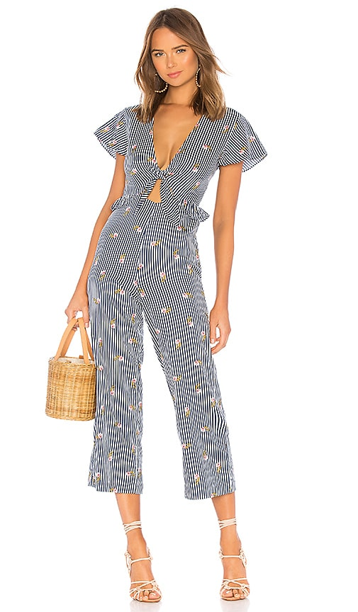 Striped Jumpsuit Navy