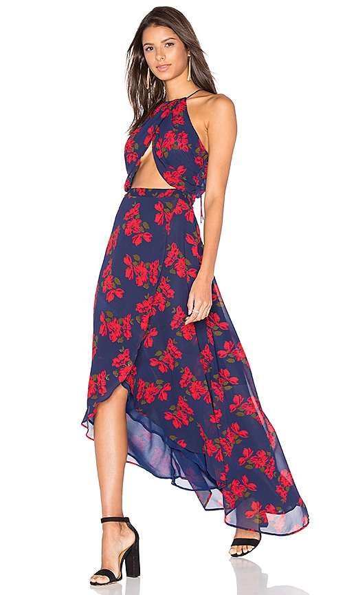 Privacy Please Batelle Dress in Navy