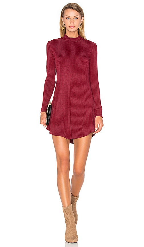 Privacy Please Goodrich Dress in Burgundy