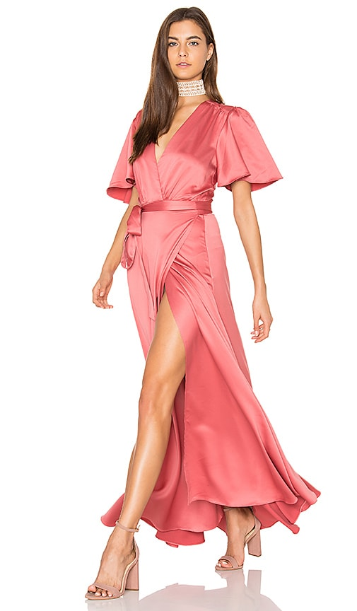 Privacy Please Plaza Kimono Dress in Rose