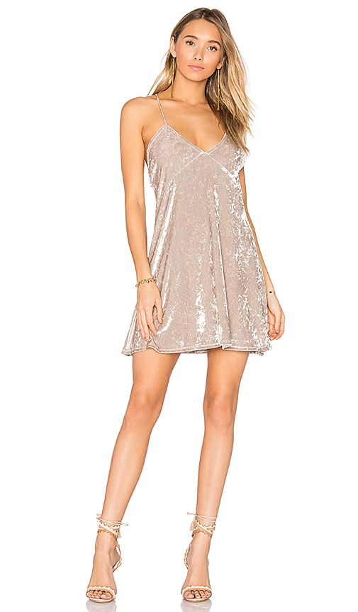 Privacy Please x REVOLVE Downtown Slip Dress in Beige