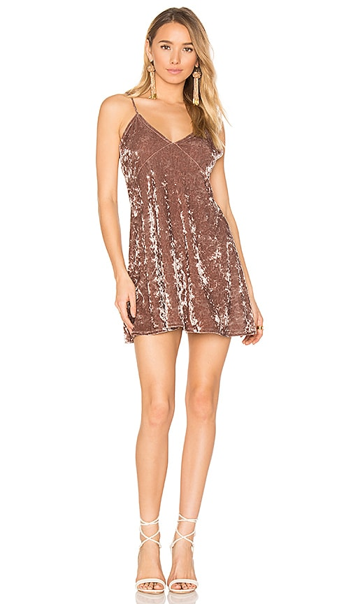 Privacy Please x REVOLVE Downtown Slip Dress in Brown