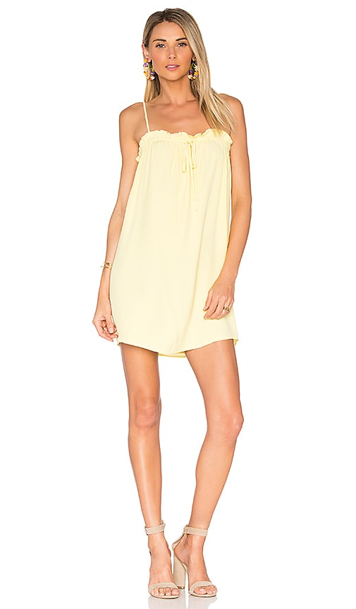 Privacy Please Oregon Mini Dress in Yellow