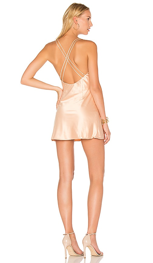 Privacy Please x REVOLVE Raven Slip Dress in Beige