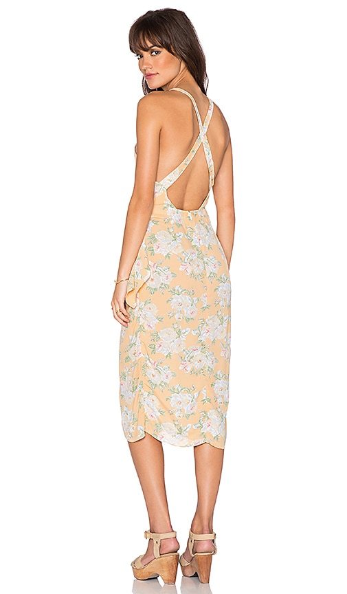 Privacy Please Nassau Wrap Dress in Peach