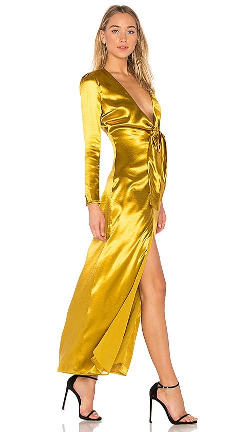Privacy Please Canon Dress in Metallic Gold