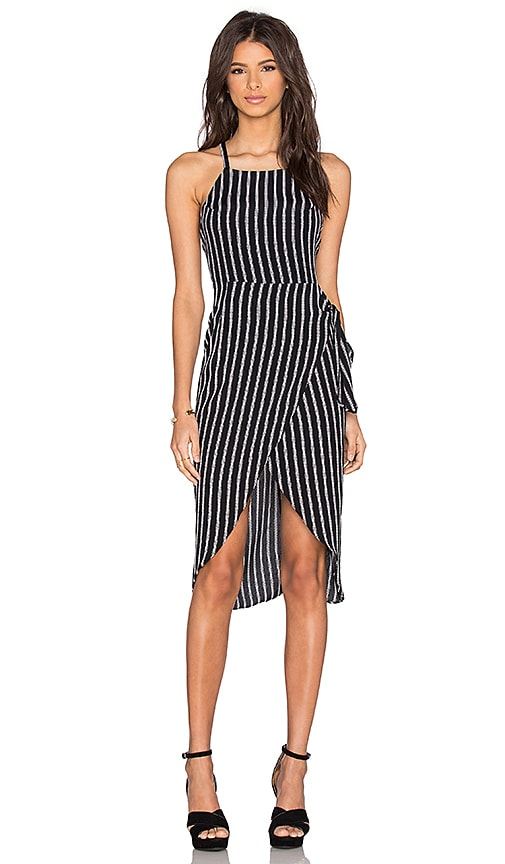 Privacy Please Nassau Wrap Dress in Black