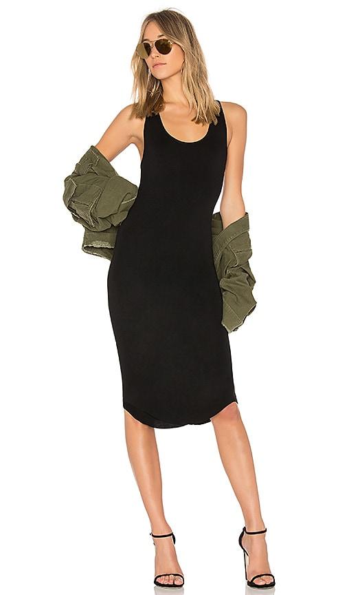 Privacy Please Racerback Midi Dress in Black