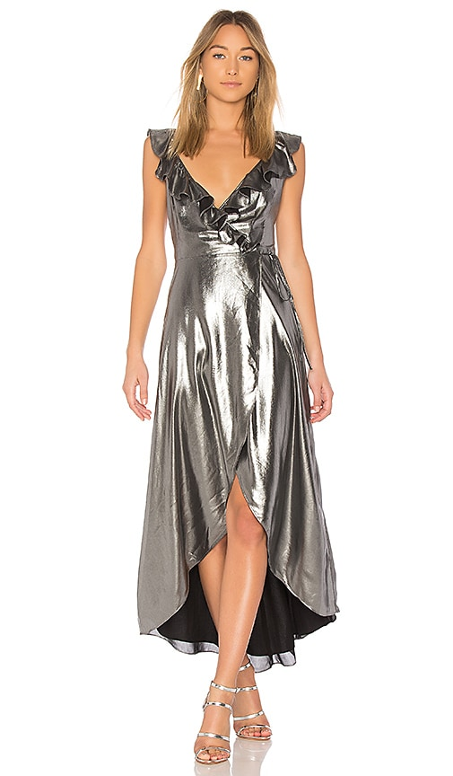 Privacy Please Fillmore Dress in Metallic Silver