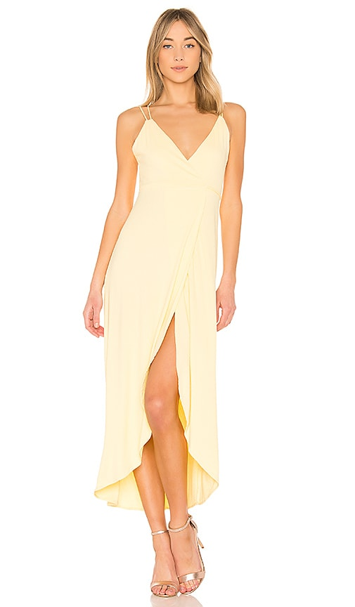 Privacy Please Harbor Dress in Yellow