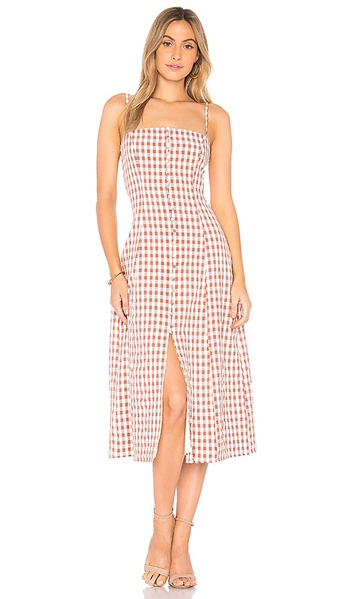 c7bf290f7b4 Privacy Please Dex Midi in Rose Gingham