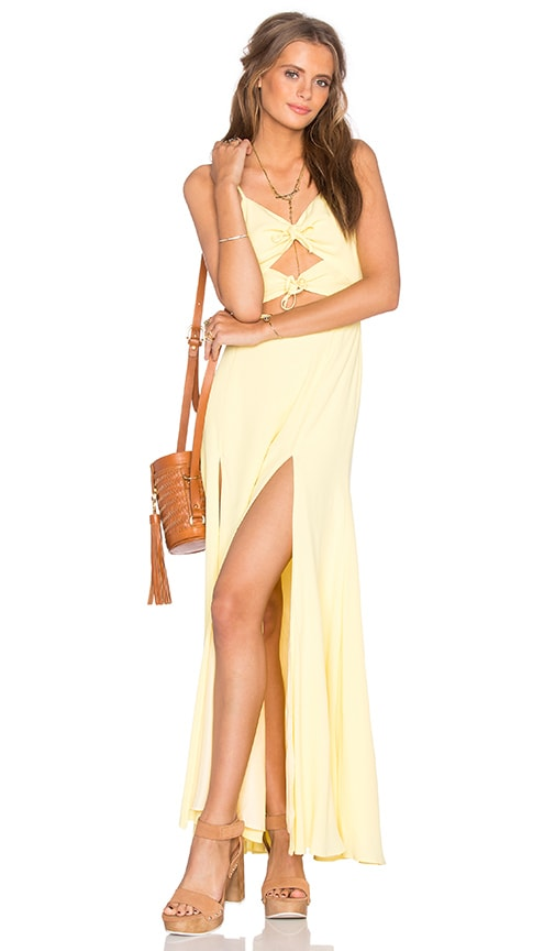 Privacy Please Levant Dress in Yellow
