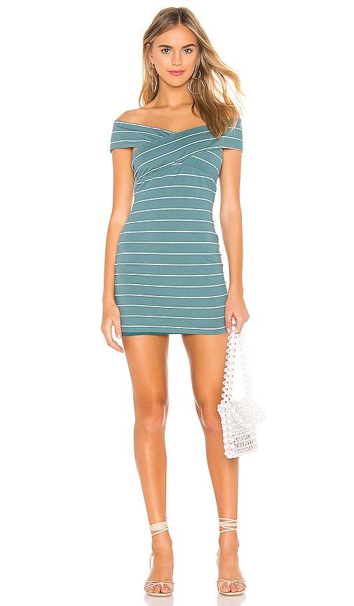 Privacy Please Bandini Mini Dress in Teal & White | REVOLVE