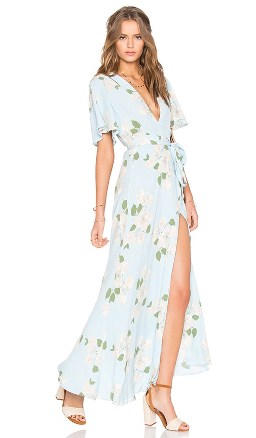 Privacy Please Plaza Kimono Dress in Blue