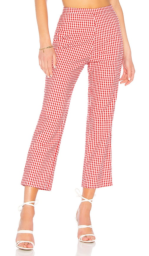 Privacy Please Baldwin Cropped Pant in Red