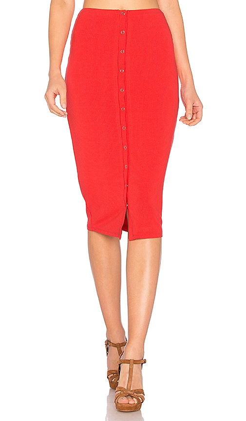 Privacy Please Hopewell Skirt in Red