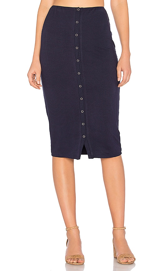Privacy Please Hopewell Skirt in Navy