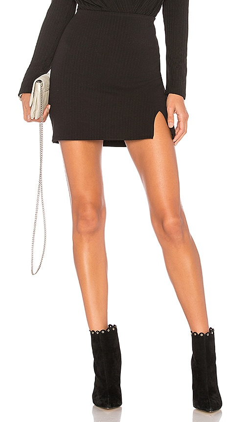 Privacy Please Springfield Mini Skirt in Black