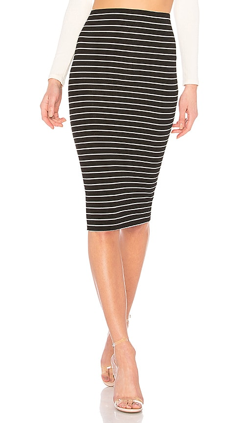 Privacy Please London Midi Skirt in Black