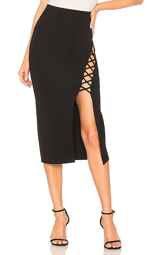 Privacy Please Durham Skirt in Black