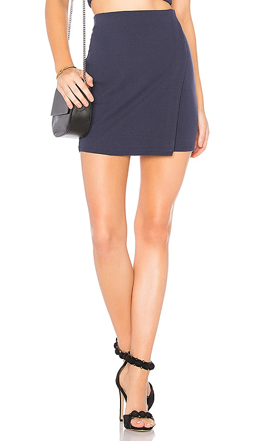 Privacy Please Mossor Mini Skirt in Navy