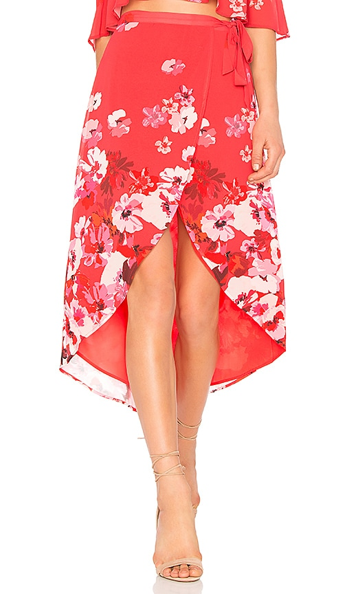 Privacy Please Java Wrap Skirt in Red