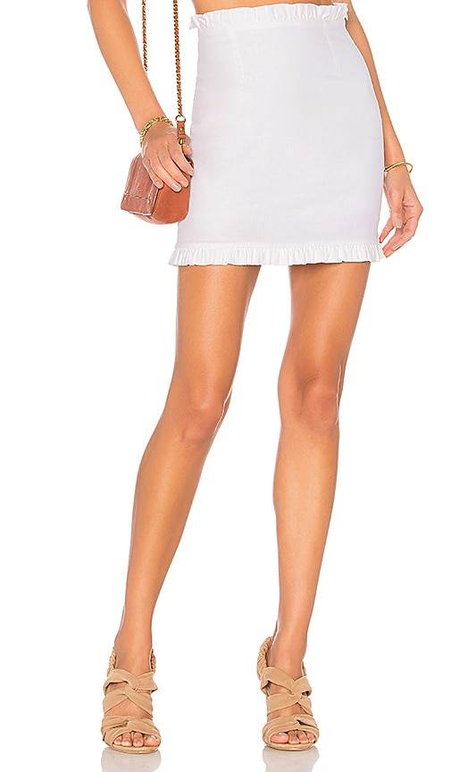 Privacy Please Iris Skirt in White
