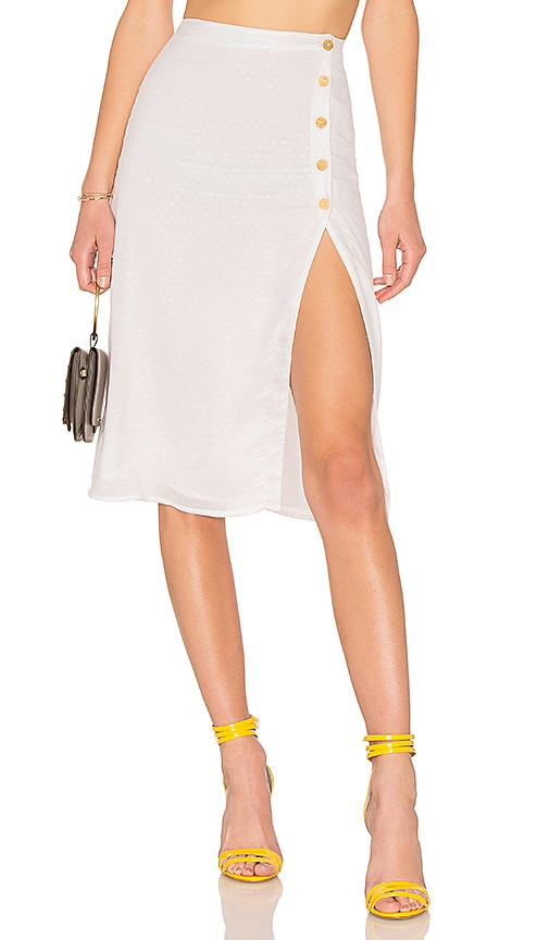 Privacy Please Burbank Skirt in Ivory