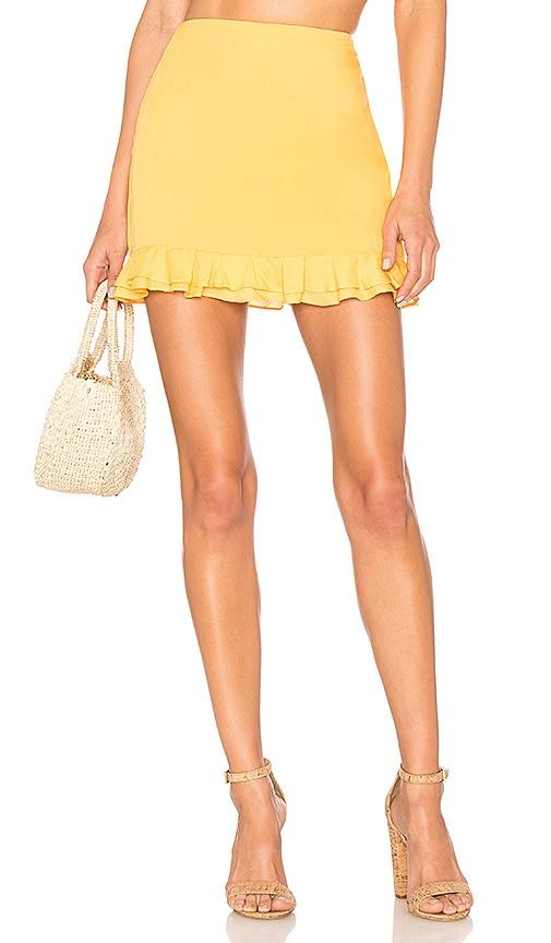 Privacy Please Morgan Skirt in Mustard