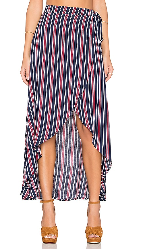 Privacy Please Java Wrap Skirt in Navy