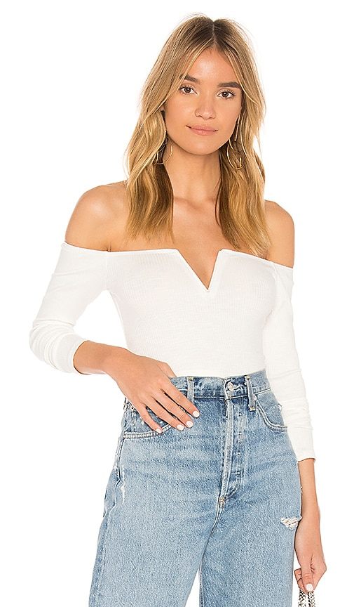 Privacy Please x REVOLVE Scene Crop Top in Ivory