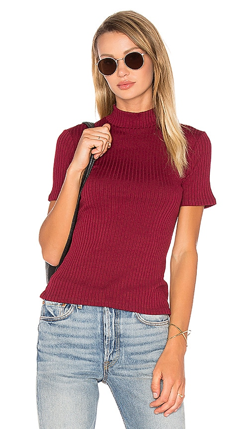 Privacy Please Dellwood Top in Burgundy