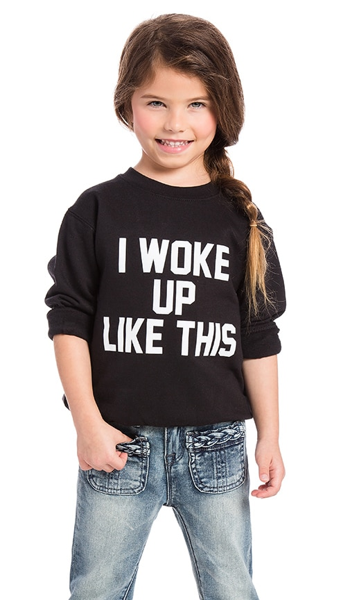 Private Party I Woke Up Like This Sweatshirt in Black