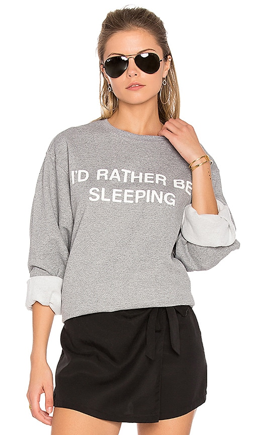 Private Party I'd Rather Be Sleeping Sweatshirt in Gray
