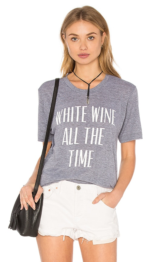 Private Party White Wine All the Time Tee in Grey