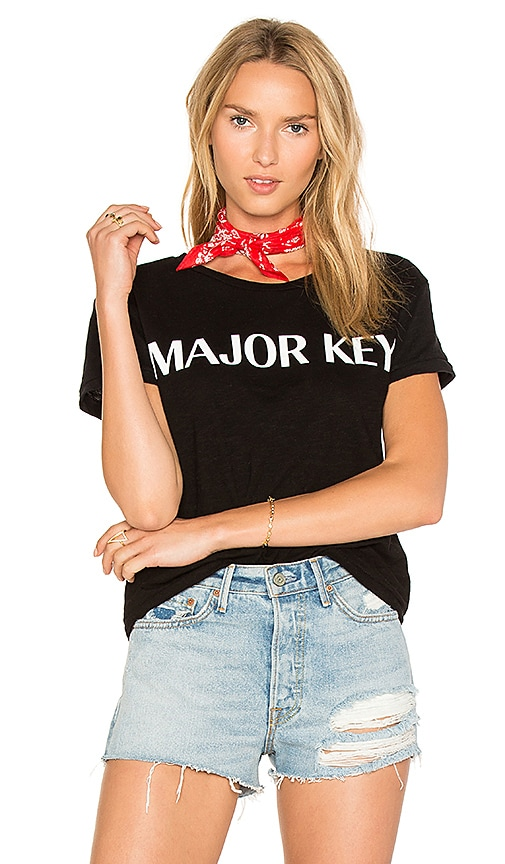 Private Party Major Key Tee in Black